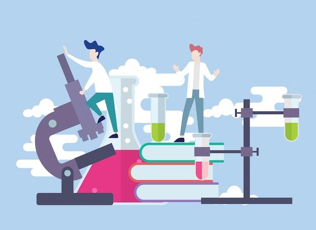 Conceito de ilustração de vetor de laboratório de pesquisa