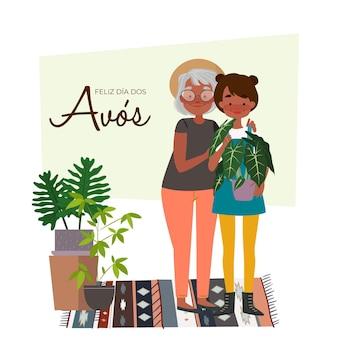 Conceito de ilustração dia dos avós