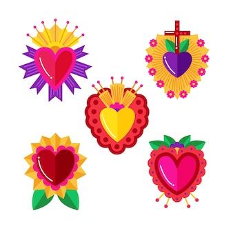 Conceito de ilustração do coração sagrado