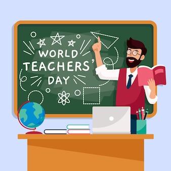 Conceito de ilustração do dia do professor