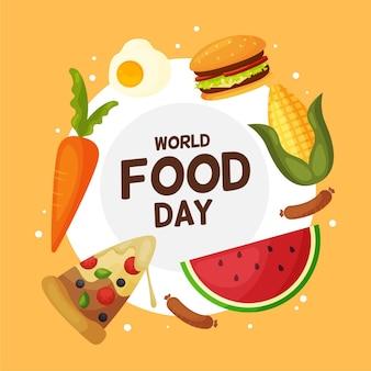 Conceito de ilustração do dia mundial da comida em design plano