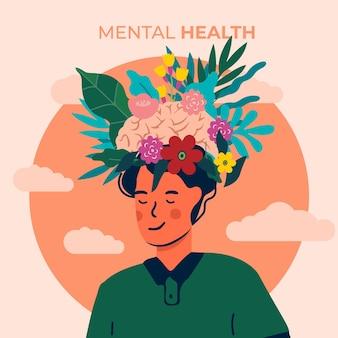 Conceito de ilustração do dia mundial da saúde mental