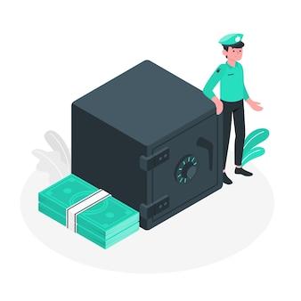 Conceito de ilustração do vault