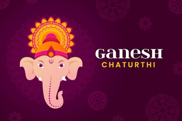 Conceito de ilustração plana ganesh chaturthi