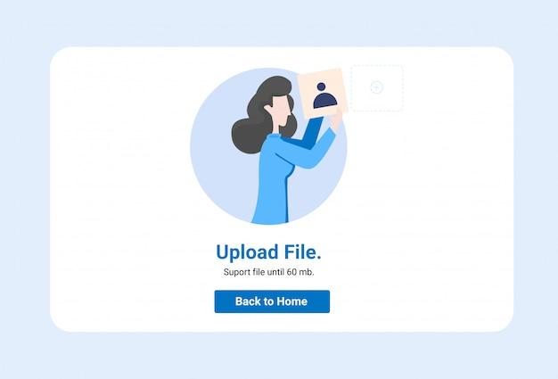 Conceito de ilustração, pode usar para, página de destino, modelo, interface do usuário