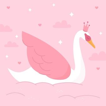 Conceito de ilustração princesa cisne