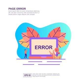 Conceito de ilustração vetorial de erro de página