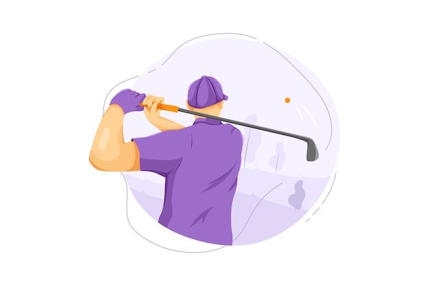 Conceito de ilustração vetorial de golfe