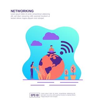 Conceito de ilustração vetorial de redes
