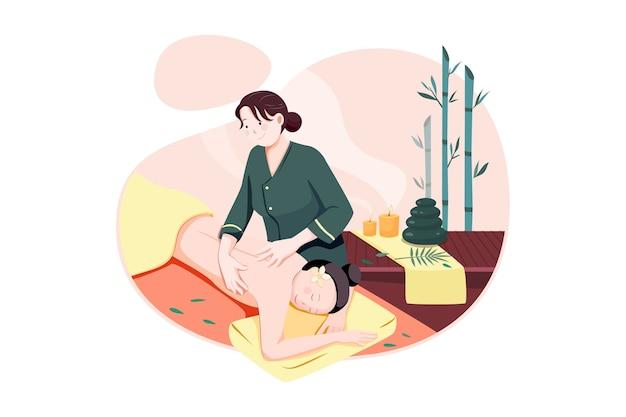 Conceito de ilustração vetorial de serviço de massagem