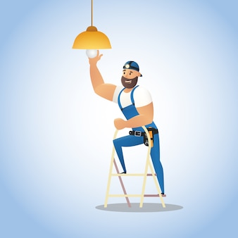 Conceito de ilustração vetorial serviço de eletricista