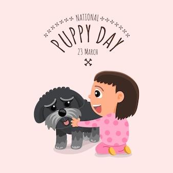 Conceito de ilustrações dia nacional do cachorrinho. ilustrar.