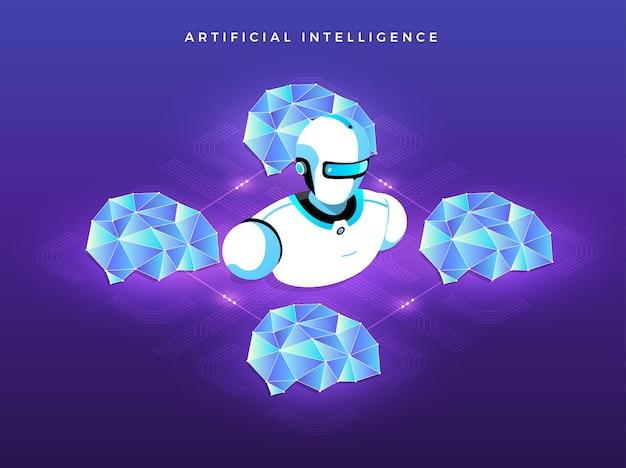 Conceito de ilustrações inteligência artificial ia
