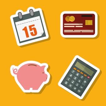 Conceito de impostos com design de ícone