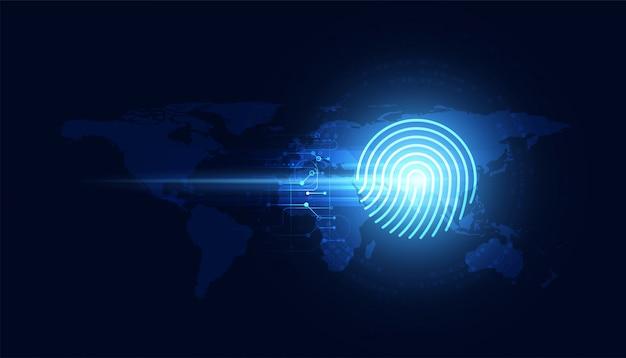 Conceito de impressões digitais detecção de roubo prevenção