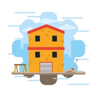 Conceito de indústria de construção