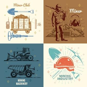 Conceito de indústria de mineração
