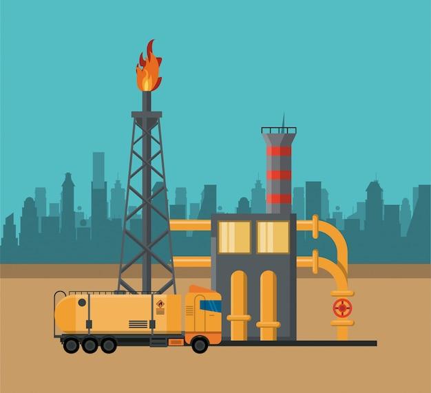 Conceito de indústria de petróleo