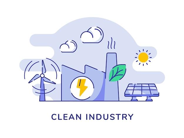 Conceito de indústria limpa com construção de fábrica