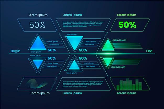 Conceito de infografia de tecnologia