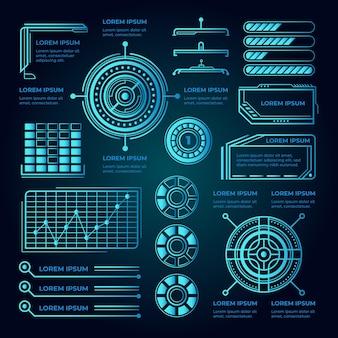 Conceito de infografia futurista