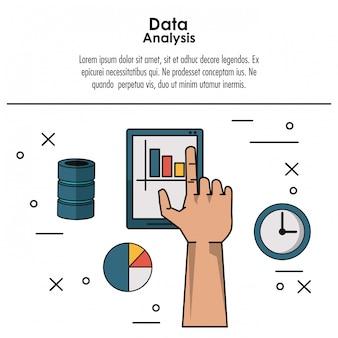 Conceito de infográfico de análise de dados