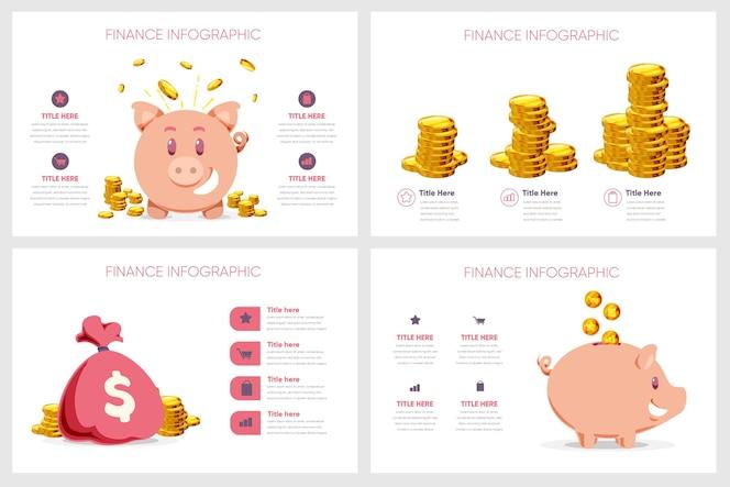 Conceito de infográfico de finanças
