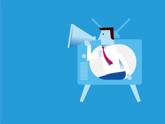 Conceito de infográfico de negócios de comunicações corporativas
