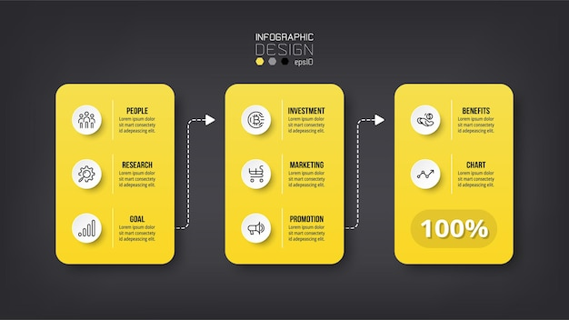 Conceito de infográfico de negócios ou marketing.