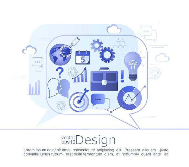 Conceito de infográfico de negócios