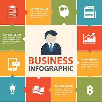 Conceito de infográfico de negócios.