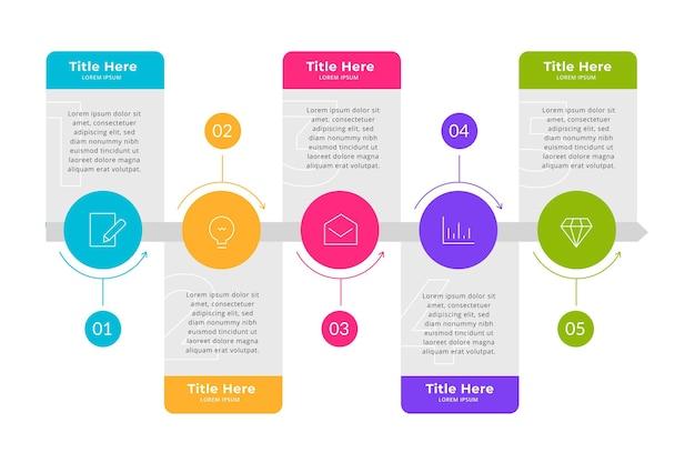 Conceito de infográfico de processo plano