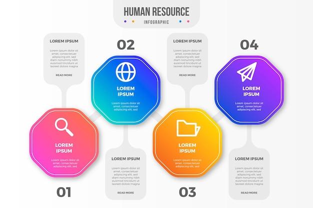 Conceito de infográfico de recursos humanos