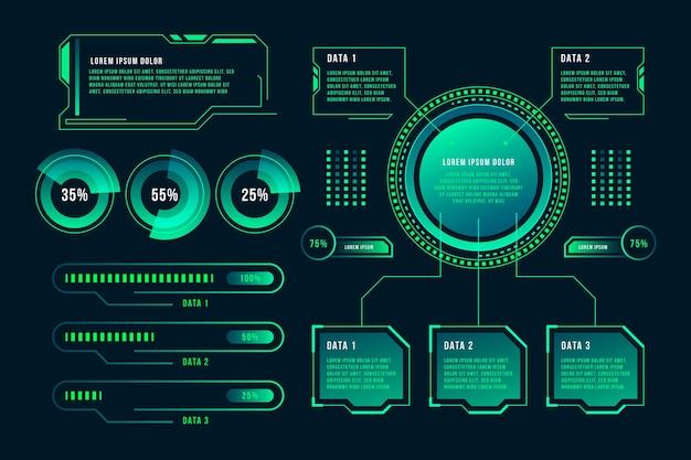 Conceito de infográfico de tecnologia