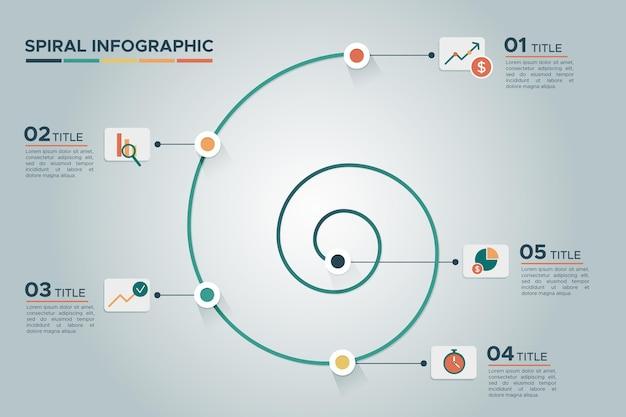 Conceito de infográfico espiral