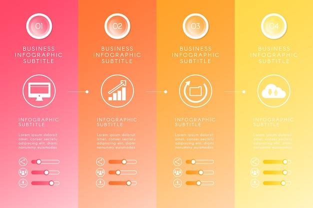 Conceito de infográfico gradiente