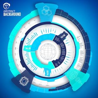 Conceito de infográfico industrial de tecnologia virtual técnica