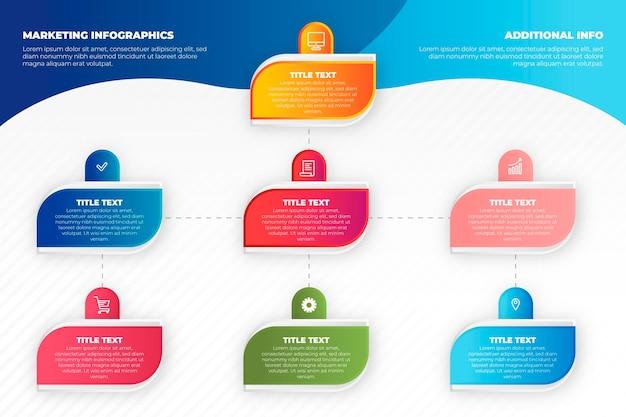 Conceito de infográficos de marketing