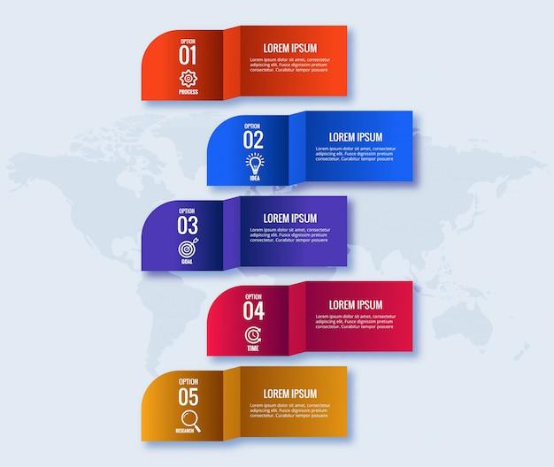 Conceito de infográficos de negócios criativos