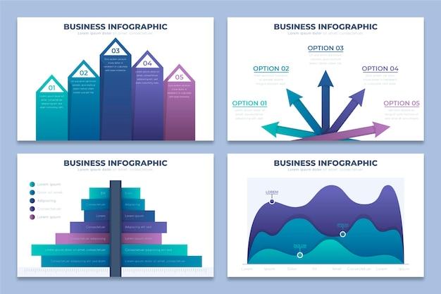 Conceito de infográficos de negócios gradiente