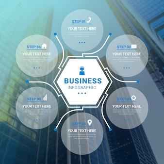 Conceito de infográficos de negócios