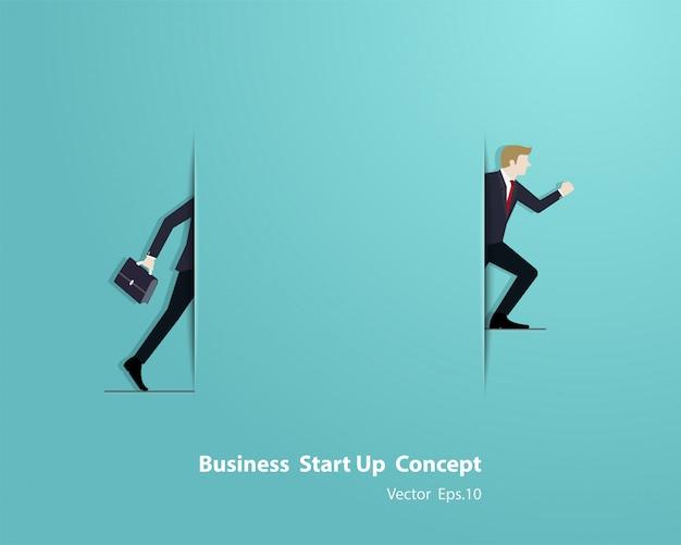Conceito de inicialização de negócios