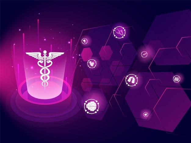 Conceito de inovação de biotecnologia médica