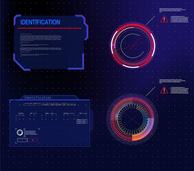 Conceito de inovação de design de comunicação de tecnologia abstrata. gráfico abstrato de vetor