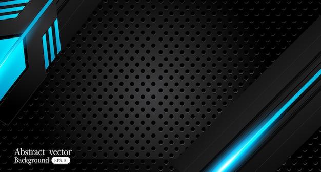 Conceito de inovação de design de quadro preto azul metálico abstrato