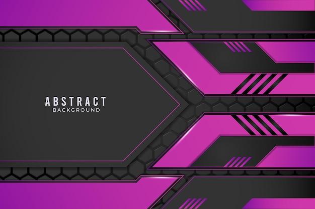 Conceito de inovação de tecnologia de design metálico abstrato roxo e preto.