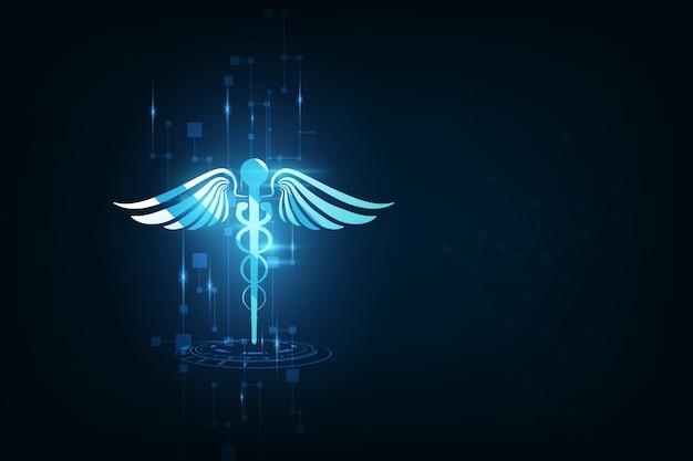Conceito de inovação de tecnologia de fundo de cuidados de saúde