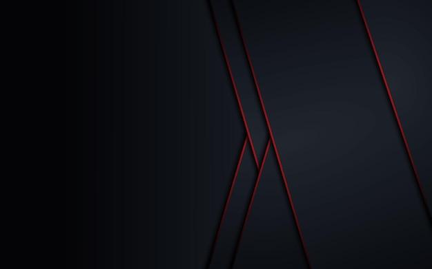 Conceito de inovação tecnológica de design de moldura preta vermelha metálica abstrata