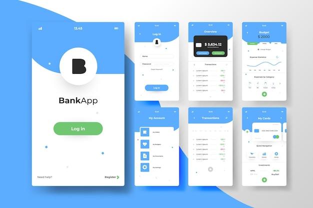 Conceito de interface de aplicativo bancário Vetor grátis