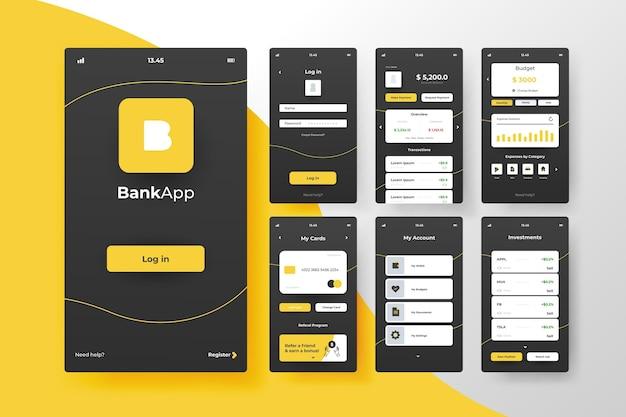Conceito de interface de aplicativo bancário